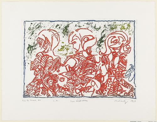 Three Rebels (Trois désordinateurs), 1967 - Pierre Alechinsky