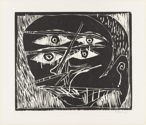 Untitled from the portfolio With the Grain of the Wood (Au fil du bois), 1973 - Pierre Alechinsky