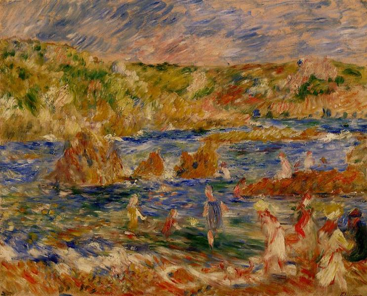 Children on the Beach at Guernsey - Renoir Pierre-Auguste