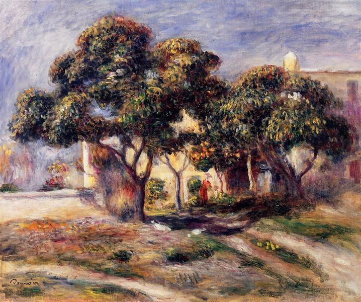 Medlar Trees, Cagnes, 1908 - Pierre-Auguste Renoir