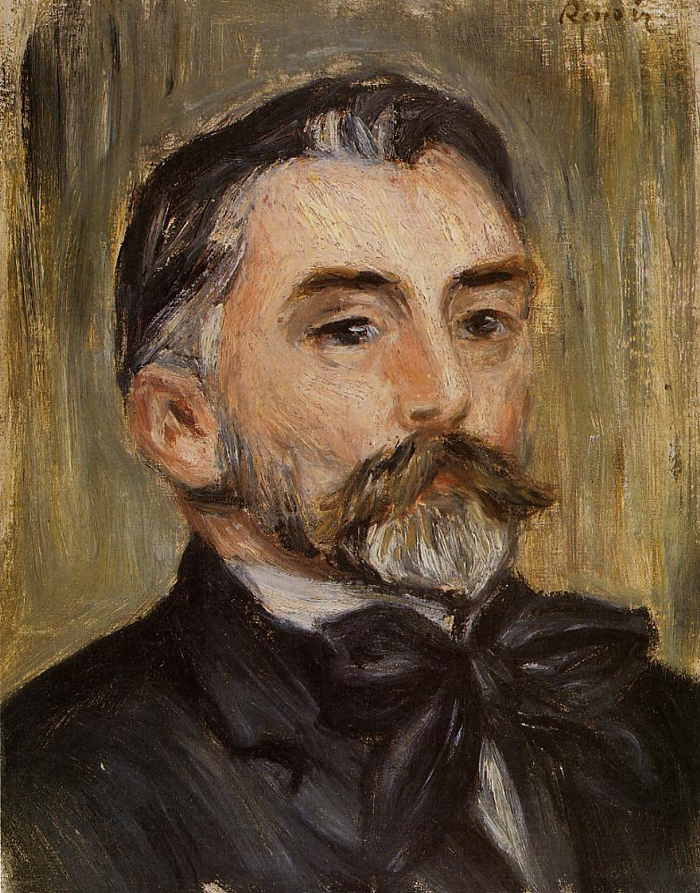 Portrait of Stephane Mallarme - Pierre-Auguste Renoir ...