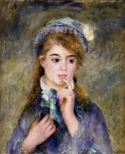 The Ingenue - Pierre-Auguste Renoir