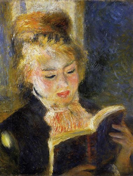 The Reader (Young Woman Reading a Book), c.1875 - 1876 - Pierre-Auguste Renoir