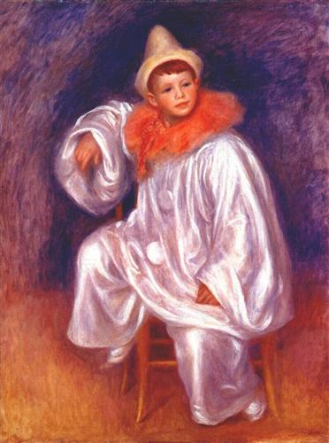 The white pierrot (Jean Renoir) - Pierre-Auguste Renoir