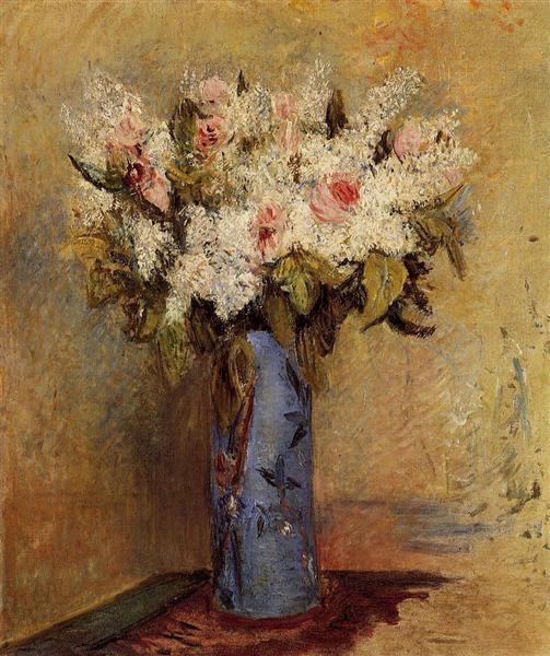 Vase of Lilacs and Roses, c.1870 - Пьер Огюст Ренуар