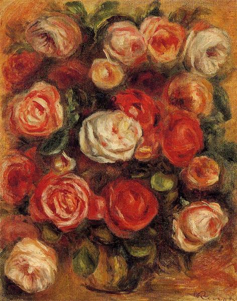 Vase of Roses - Pierre-Auguste Renoir