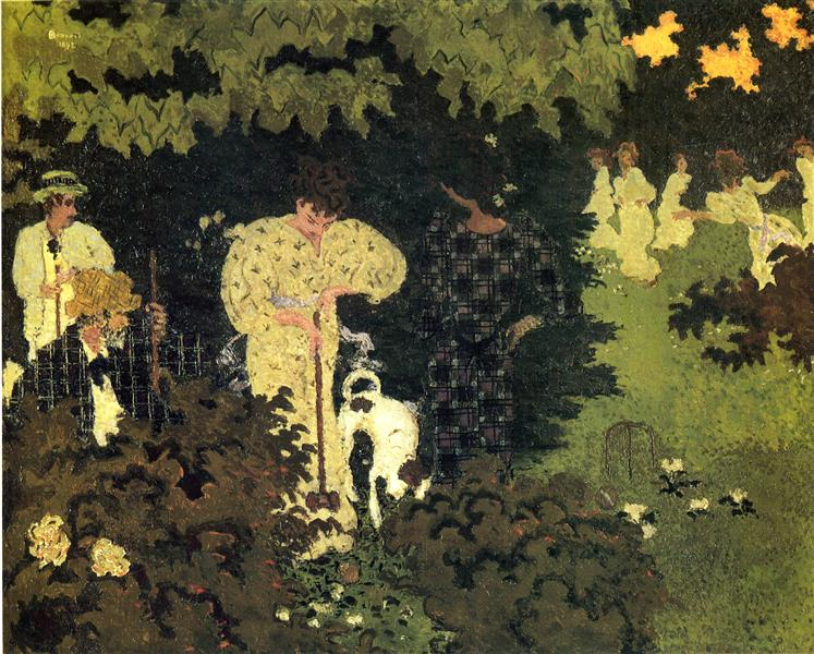 Dusk, or A Round of Croquet, 1892 - Pierre Bonnard