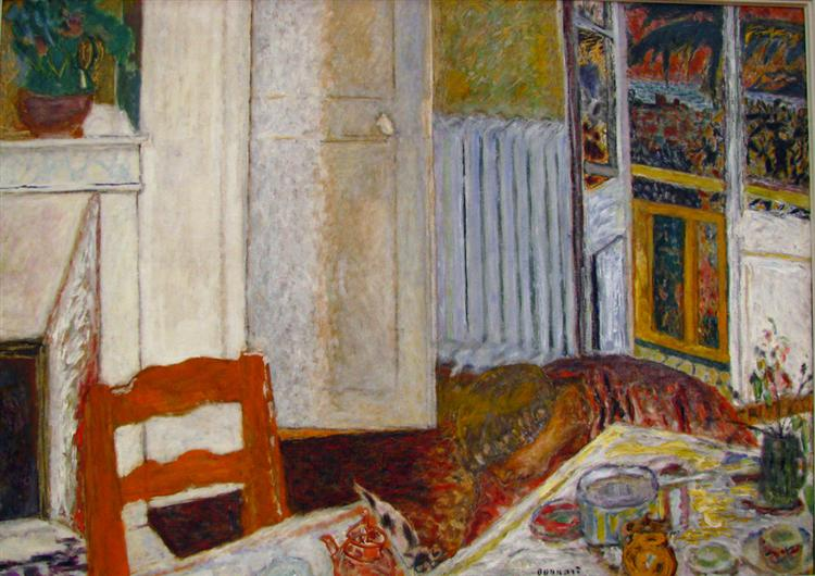 White Interior - Pierre Bonnard