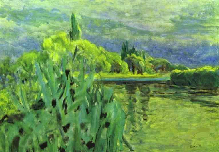 The seine 1928 1930 pierre bonnard - Camaieu de bleu peinture ...