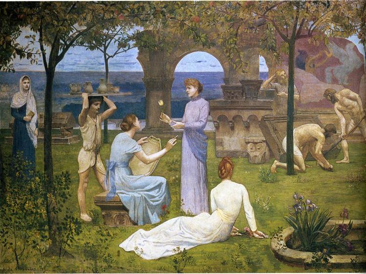 Between Art and Nature (detail), 1888 - Pierre Puvis de Chavannes