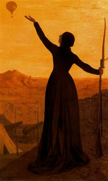 The Balloon, 1874 - Pierre Puvis de Chavannes