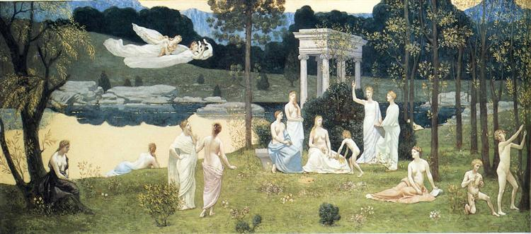 The Sacred Wood Cherished by the Arts and the Muses, 1884 - 1889 - Pierre Puvis de Chavannes