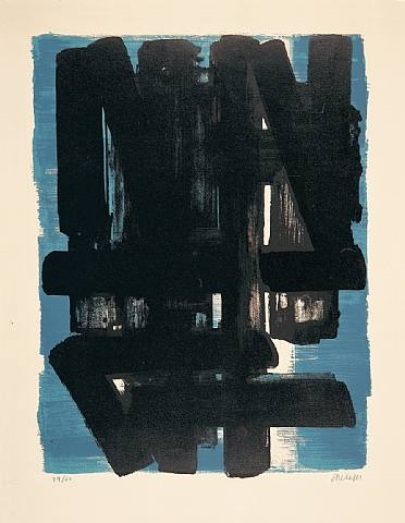 Lithographie No. 5, 1957 - Pierre Soulages