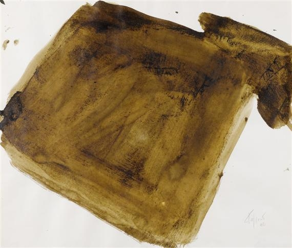 Brown Composition, 1982 - Pierre Tal Coat