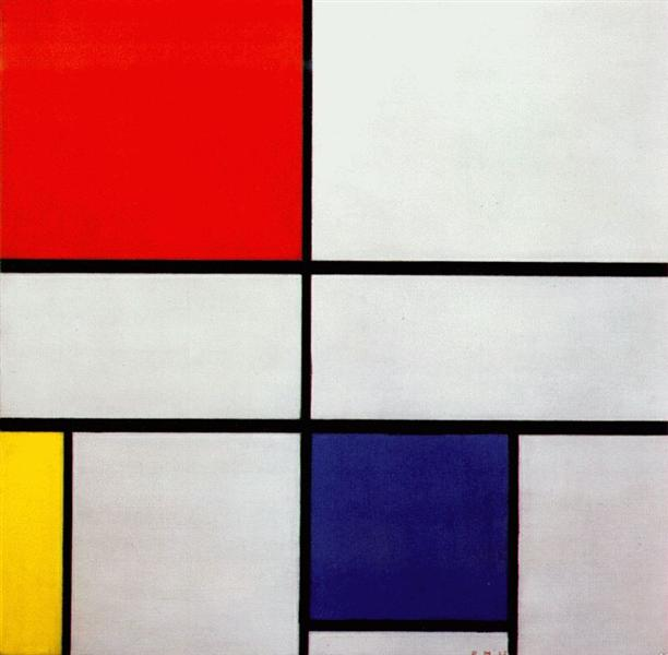 Composition C (No.III) with Red, Yellow and Blue, 1935 - Piet Mondrian