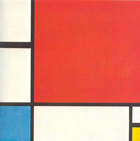 Composition with Red,  Blue and Yellow - Mondrian Piet