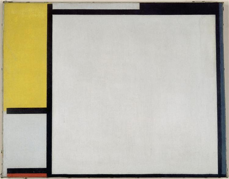 Composition with Red, Yellow and Blue, 1922 - Piet Mondrian