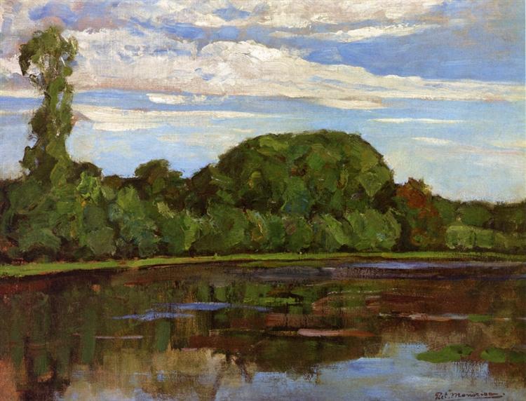 Geinrust Farm with Isolated Tree, 1905 - 1906 - Piet Mondrian