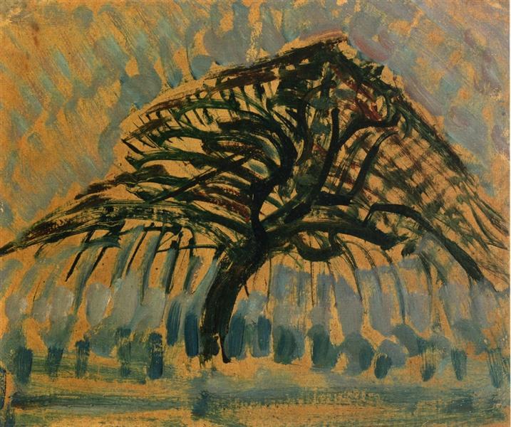 Study for Blue Apple Tree Series, 1908 - Piet Mondrian