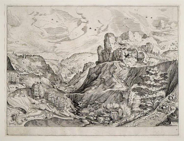 Alpine Landscape, c.1555 - c.1556 - Pieter Bruegel the Elder