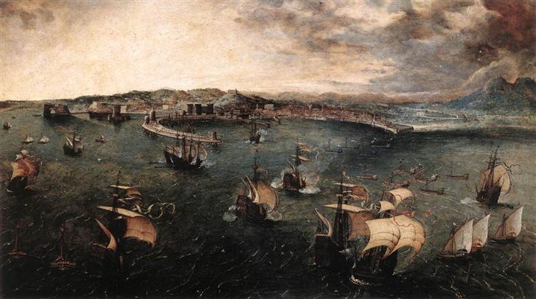 Naval battle in the Gulf of Naples, 1560 - Pieter Bruegel the Elder