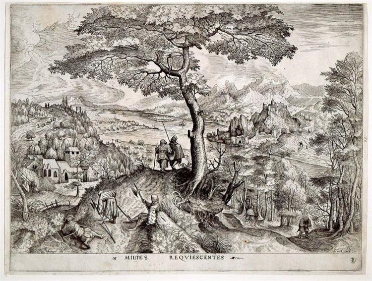 Soldiers at Rest, 1555 - 1556 - Pieter Bruegel the Elder