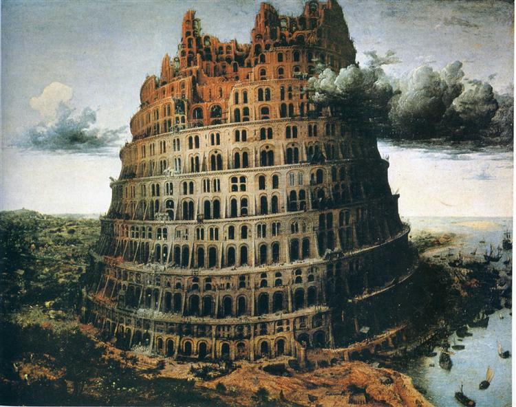 "The ""Little"" Tower of Babel, 1563 - Pieter Bruegel the Elder"