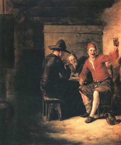 Happy drinker - Pieter de Hooch