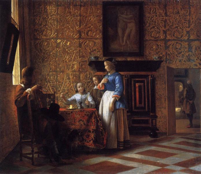Interior with Figures, c.1664 - Pieter de Hooch