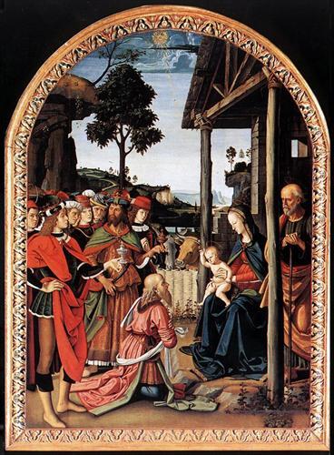 Adoration of the Kings (Epiphany) - Pietro Perugino