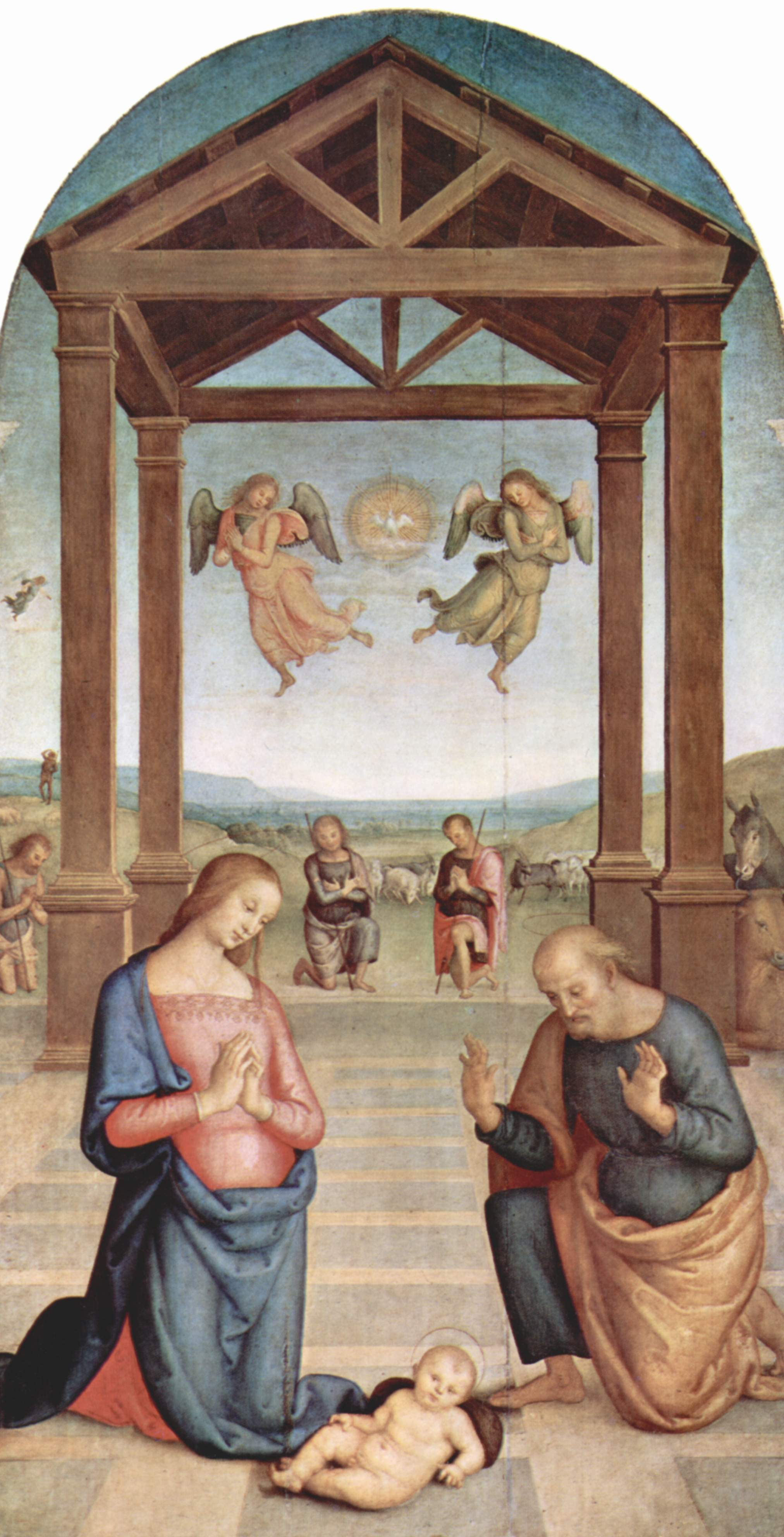 Pietro Perugino Altarpiece of St Augustine Adoration of the Shepherds