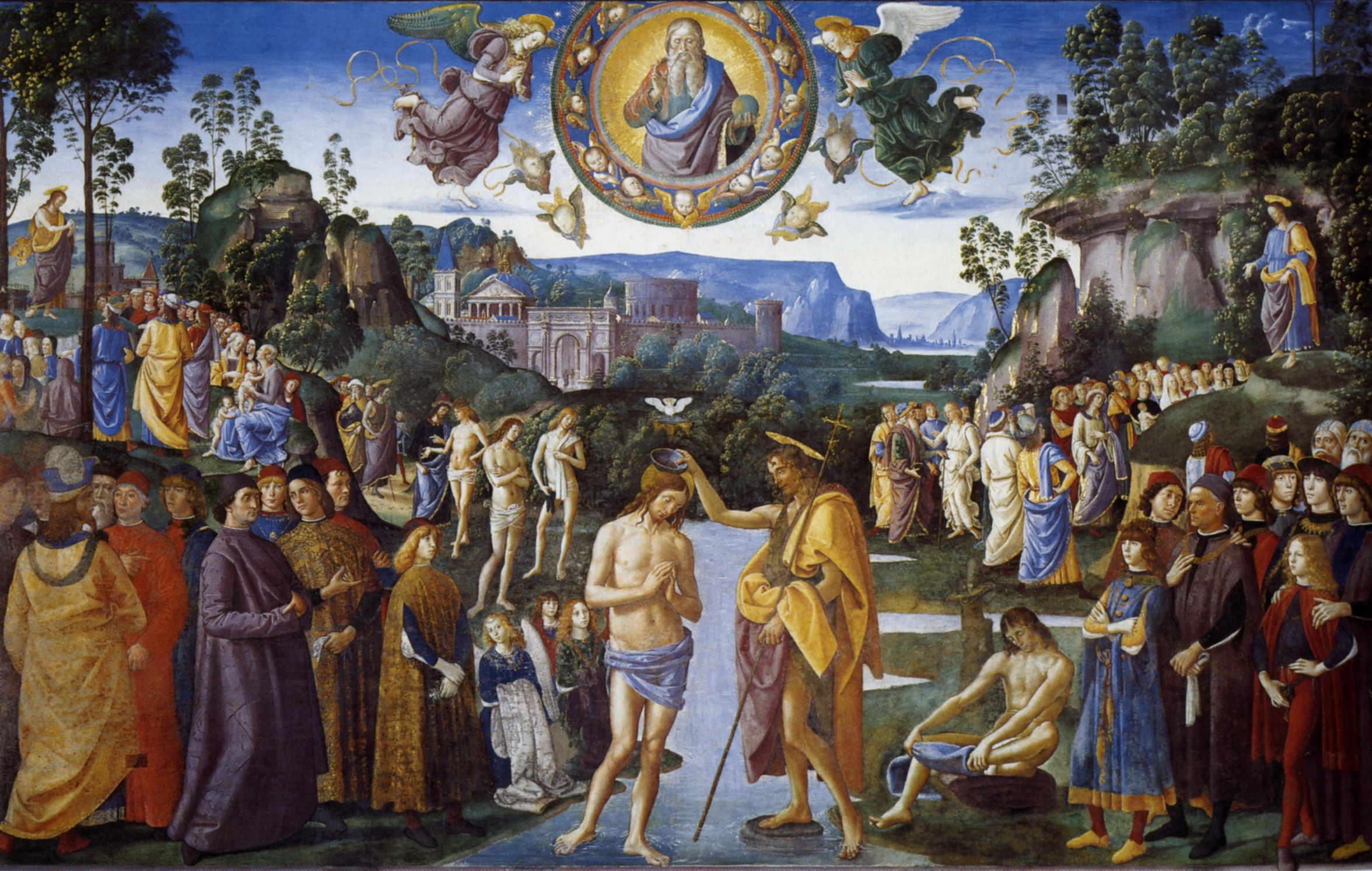 Baptism of Christ, 1481-1483 - Pietro Perugino