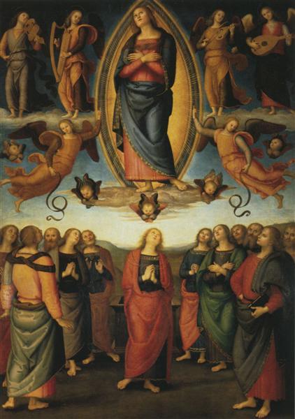 Polyptych Annunziata (Assumption of Mary) - Pietro Perugino