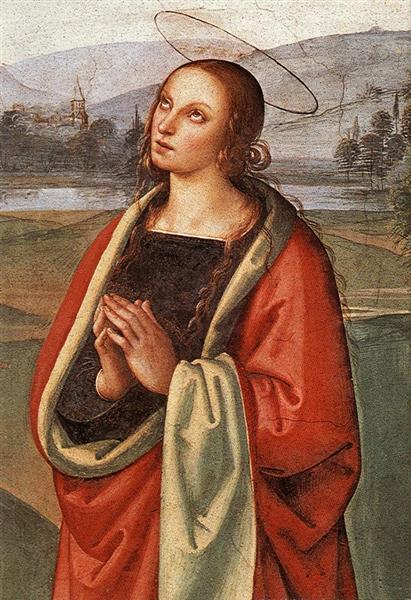 The Pazzi Crucifixion (detail 2) - Perugino Pietro
