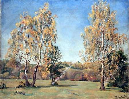 Autumn. Birches., 1933