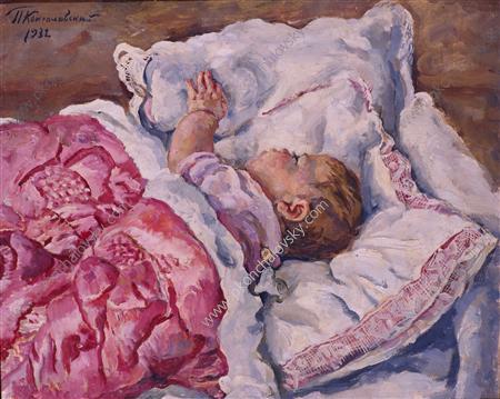 Katya sleeping, 1932