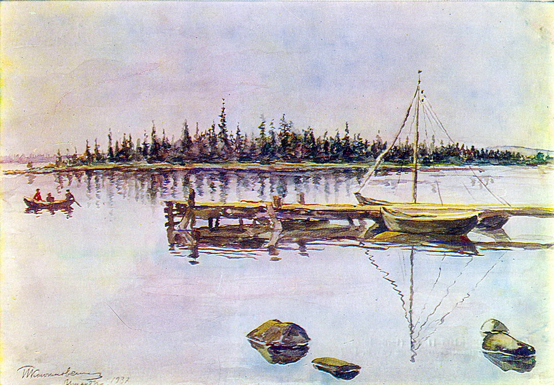 Lake Imandra. Resinification nets., 1937