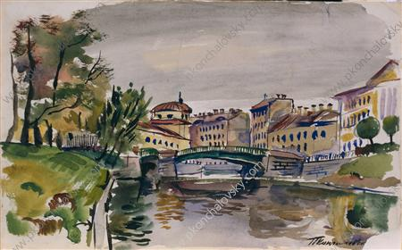 Moika. Three-arch bridge., 1931