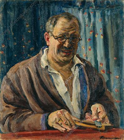 Self-Portrait (Sharpening a razor), 1931