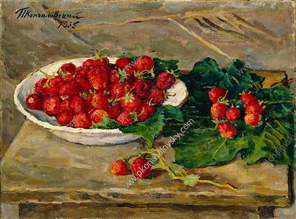 Still Life. Strawberries., 1955 - Pyotr Konchalovsky