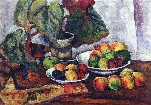 Still Life with Begonia - Pyotr Konchalovsky