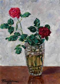 Still Life with Flowers - Pjotr Petrowitsch Kontschalowski