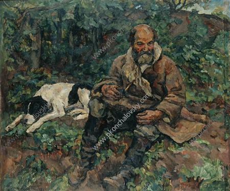 The night watchman with a dog (Ivan Payala), 1923
