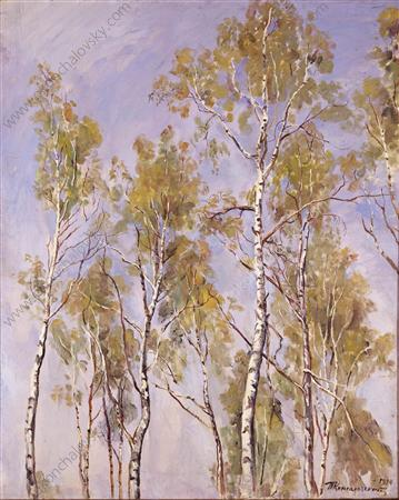 The tops of the birches, 1934