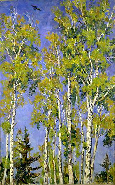 The tops of the birches, 1940