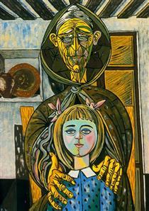 The old woman and the girl - Rafael Zabaleta
