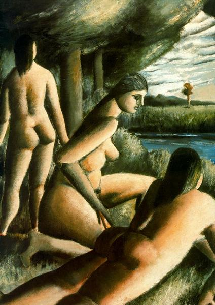 Three nude women, 1934 - Rafael Zabaleta