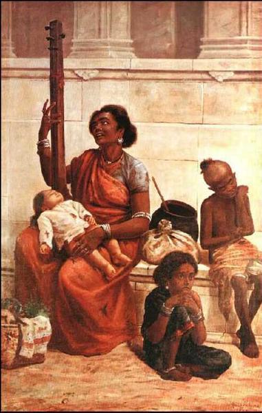 Gypsies, 1893 - Raja Ravi Varma