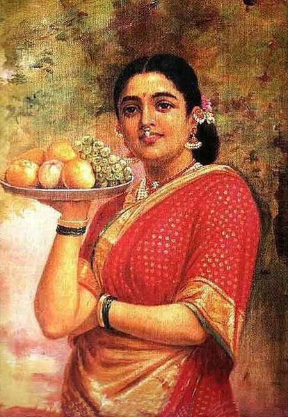 The Maharashtrian Lady - Raja Ravi Varma