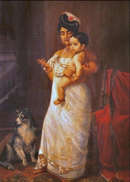 There Comes Papa, 1893 - Raja Ravi Varma